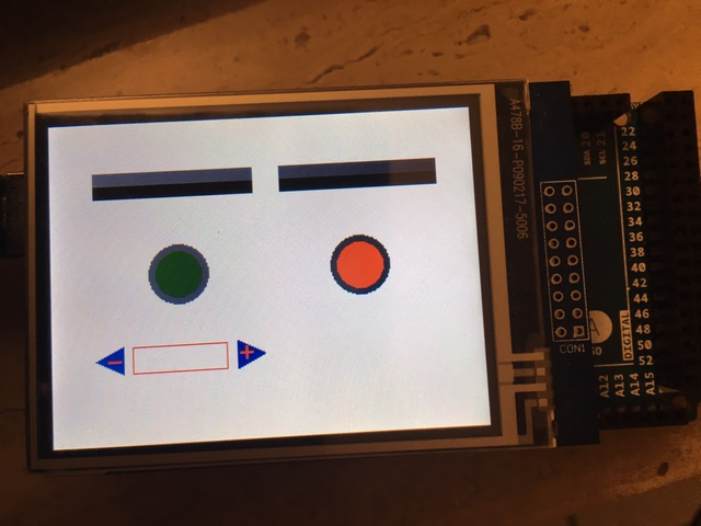 How to make a gui for arduino tft lcd emacs